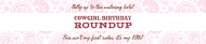 Birthday Water Bottle Label - Cowgirl Roundup