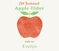 Cider Label - Pure Apple