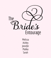 Wedding Wine Label - Bride's Entourage