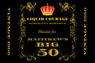 Birthday Mini Liquor Label - Liquid Courage