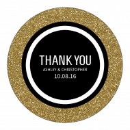 Wedding Label - Glitter Gold