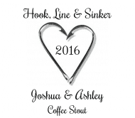 Wedding Beer Label - Hook, Line & Sinker