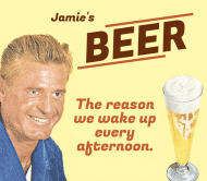 Expressions Beer Label - The Reason I Wake Up