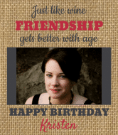 Birthday Wine Label - Friendship