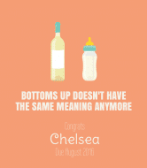 Baby Wine Label - Bottoms Up
