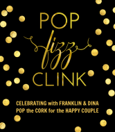 Wedding Champagne Label - Pop, Fizz, Clink