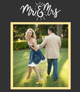 Wedding Wine Label - Mr & Ms