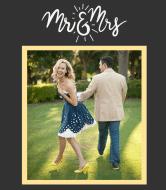 Wedding Wine Label - Mr & Ms