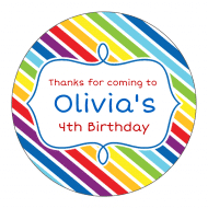 Birthday Sticker - Rainbow