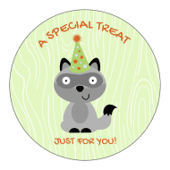 Birthday Sticker - Woodland Animals