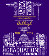 Graduations Wine Label - Graduation Letters