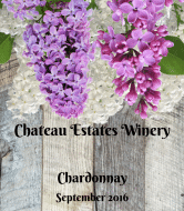 Wine Label - Rustic Lilac