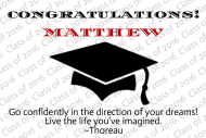 Graduations Mini Liquor Label - Black Graduation Cap