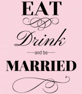 Wedding Champagne Label - Eat Drink and Be Married