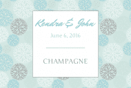 Wedding Mini Champagne Label - Spring Fresh