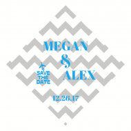 Wedding Wine Hang Tag - Airplane Chevron