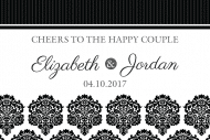 Wedding Mini Wine Label - Black & White