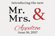 Wedding Mini Wine Label - Mr & Mrs