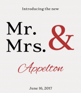 Wedding Wine Label - Mr & Mrs