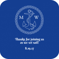 Wedding Drink Coaster - Nautical