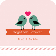 Wedding Drink Coaster - Together Forever