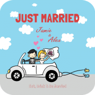 Wedding Drink Coaster - Just Married