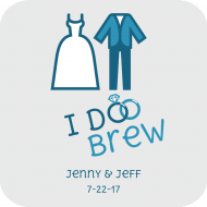 Wedding Drink Coaster - I Do