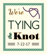 Wedding Wine Label - Tying the Knot