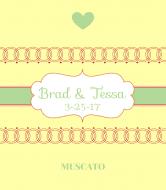 Wedding Wine Label - Circles of Love