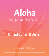 Wedding Champagne Label - Aloha