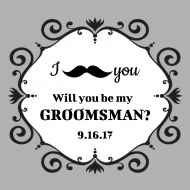 Wedding Sticker - Mustache