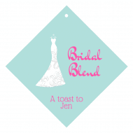 Wedding Wine Hang Tag - Wedding Dress