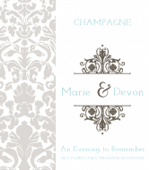 Wedding Champagne Label - Evening to Remember