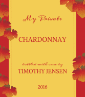 Expressions Wine Label - Crimson Leaves