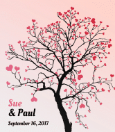 Wedding Wine Label - Tree of Love