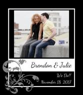 Wedding Wine Label - Framed Image