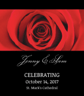 Wedding Wine Label - Red Rose