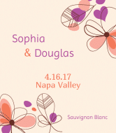 Wedding Wine Label - Flower Wedding