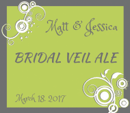Wedding Beer Label - Bridal Veil Ale