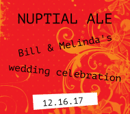 Wedding Beer Label - Nuptial Ale