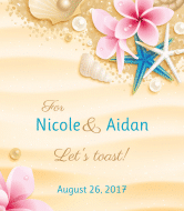 Wedding Wine Label - Beach Wedding