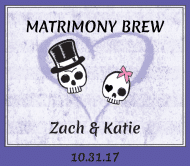 Wedding Beer Label - Matrimony Brew