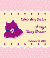 Baby Wine Label - Purple Pinafore