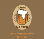 Celebration Beer Label - Chug