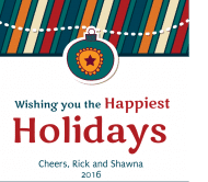 Holiday Wine Label - Happiest Holidays