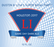 Beer Label - Super Bowl Party
