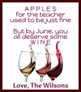 Expressions Wine Label - Teacher
