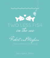 Wedding Wine Label - Two Less Fish