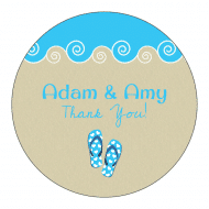 Wedding Sticker - Flip Flops