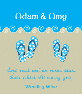 Wedding Wine Label - Flip Flops